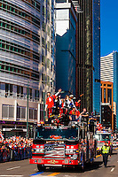 Kickers Brandon McManus (l) and Britton Colquitt (r), Denver Broncos Super Bowl 50 Victory Parade, Downtown Denver, Colorado USA.