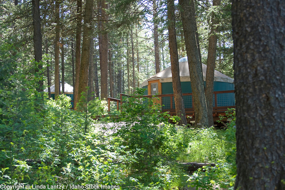 Yurt camping at Winchester Lake, an Idaho State Park. PLEASE CONTACT US FOR DIGITAL DOWNLOAD AND PRICING.