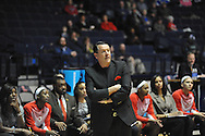 "Mississippi vs. Georgia head coach Andy Landers at the C.M. ""Tad"" Smith Coliseum in Oxford, Miss. on Thursday, January 15, 2015.  (AP Photo/Oxford Eagle, Bruce Newman)"