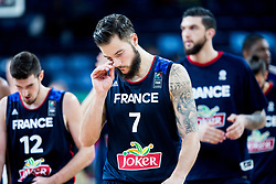 Nando de Colo of France, Joffrey Lauvergne of France after the basketball match between National Teams of Germany and France at Day 10 in Round of 16 of the FIBA EuroBasket 2017 at Sinan Erdem Dome in Istanbul, Turkey on September 9, 2017. Photo by Vid Ponikvar / Sportida