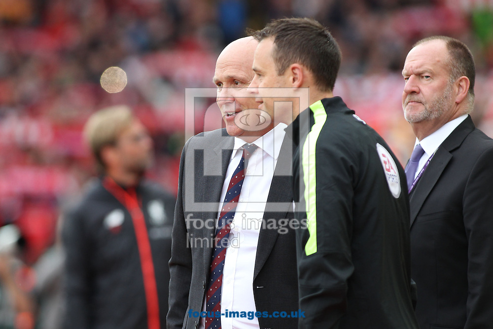 Hull City manager Mike Phelan on the touchline prior to the Premier League match against Liverpool at Anfield, Liverpool.Picture by Michael Sedgwick/Focus Images Ltd +44 7900 363072<br /> 24/09/2016