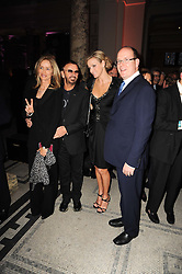 Left to right, BARBARA BACH, RINGO STARR, CHARLENE WITTSTOCK and His Serene Higness PRINCE ALBERT OF MONACO at the opening of the Victoria & Albert Museum's latest exhibition 'Grace Kelly: Style Icon' opened by His Serene Highness Prince Albert of Monaco at the V&A on 15th April 2010.