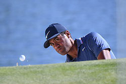 May 2, 2019 - Charlotte, NC, U.S. - CHARLOTTE, NC - MAY 02: Tony Finau hits from the bunker to the 14th green during the first round of the Wells Fargo Championship at Quail Hollow on May 2, 2019 in Charlotte, NC. (Photo by William Howard/Icon Sportswire) (Credit Image: © William Howard/Icon SMI via ZUMA Press)