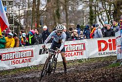 Philipp WALSLEBEN (42,GER), 7th lap at Men UCI CX World Championships - Hoogerheide, The Netherlands - 2nd February 2014 - Photo by Pim Nijland / Peloton Photos