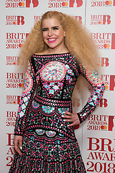 EDITORIAL USE ONLY XXXX Paloma Faith attending the Brit Awards 2018 Nominations event held at ITV Studios on Southbank, London. Photo credit should read: David Jensen/EMPICS Entertainment