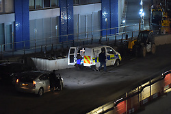 © Licensed to London News Pictures. 06/01/2019. London UK: Forensic officers at City Island development in east London where a woman in her thirties was found with fatal head injuries at around 4.30 this afternoon , Photo credit: Steve Poston/LNP