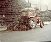 Old Dublin Amature Photos April 1984 WITH, <br /> Smithfield, Blackhall St, Kings Inns, Hill St, Temple St, Sallynoggin, R.C. Buckingham St, Chaplezord, Demolished Cottage Clonsilla, car, Massey Ferguson Tractor, 135 with grass cutter,