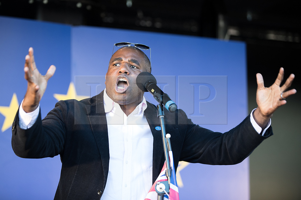 © Licensed to London News Pictures . 25/03/2017 . London , UK . DAVID LAMMY MP . A Unite for Europe anti Brexit march through central London , from Park Lane to Westminster . Protesters are campaigning ahead of the British government triggering Article 50 of the Lisbon Treaty which will initiate Britain's withdrawal from the European Union . Photo credit : Joel Goodman/LNP