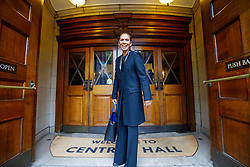 "© Licensed to London News Pictures. 12/05/2017. London, UK. GINA MILLER arrives at ""The Convention"" event at Westminster Central Hall in London to speak on the impact of Brexit on Friday, 12 May 2017. Photo credit: Tolga Akmen/LNP"