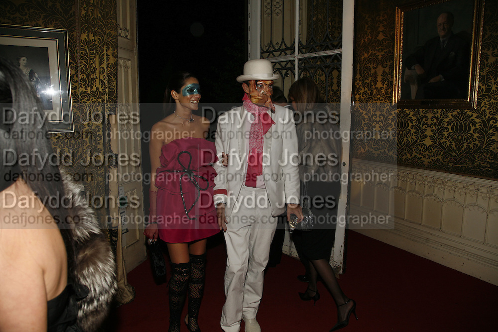 Astrid Munoz and Dan Macmillan, The Moet and Chandon Fashion Tribute 2006 Honouring British Photographer Nick Knight. Strawberry Hill House. Twickenham. 24 October 2006. -DO NOT ARCHIVE-© Copyright Photograph by Dafydd Jones 66 Stockwell Park Rd. London SW9 0DA Tel 020 7733 0108 www.dafjones.com