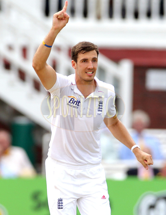 © Andrew Fosker / Seconds Left Images 2012 - England's Steven Finn celebrates the wicket of Hashim Amla  bowled for 121 runs  England v South Africa - 3rd Investec Test Match - Day 4 - Lord's Cricket Ground - 19/08/2012 - London - UK - All rights reserved