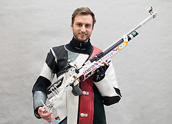 19.03.2016, Arena Kufstein, Kufstein, AUT, Österreichische Meisterschaften für Luftdruckwaffen, Herren, im Bild Georg Zott (AUT) // Georg Gott of Austria during the Austrian Mens Championships for airguns at Arena Kufstein in Kufstein, Austria on 2016/03/19. EXPA Pictures © 2016, PhotoCredit: EXPA/ Johann Groder