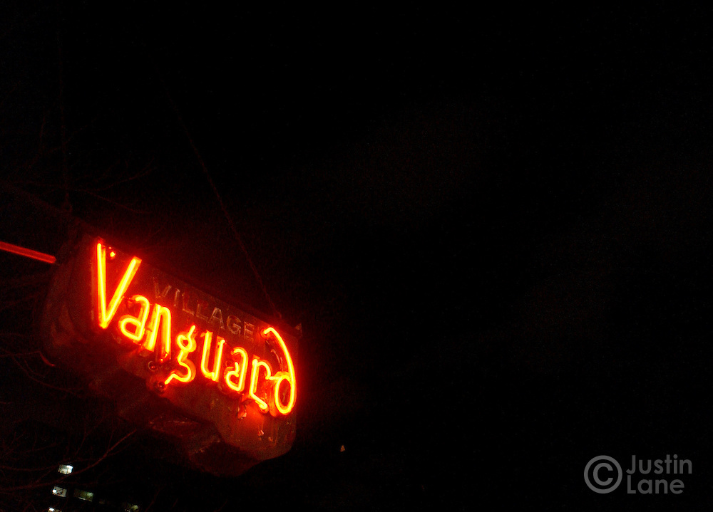 The sign hanging outside the Village Vanguard in New York.<br /> JUSTIN LANE FOR THE DETROIT FREE PRESS