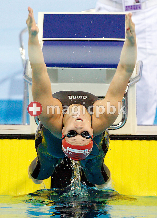Sanja JOVANOVIC of Croatia starts in the women's 100m Backstroke Heats at the 13th European Short Course Swimming Championships in Istanbul, Turkey, Thursday, Dec. 10, 2009. (Photo by Patrick B. Kraemer / MAGICPBK)