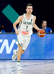 Adas Juskevicius of Lithuania during basketball match between National Teams of Lithuania and Greece at Day 10 in Round of 16 of the FIBA EuroBasket 2017 at Sinan Erdem Dome in Istanbul, Turkey on September 9, 2017. Photo by Vid Ponikvar / Sportida