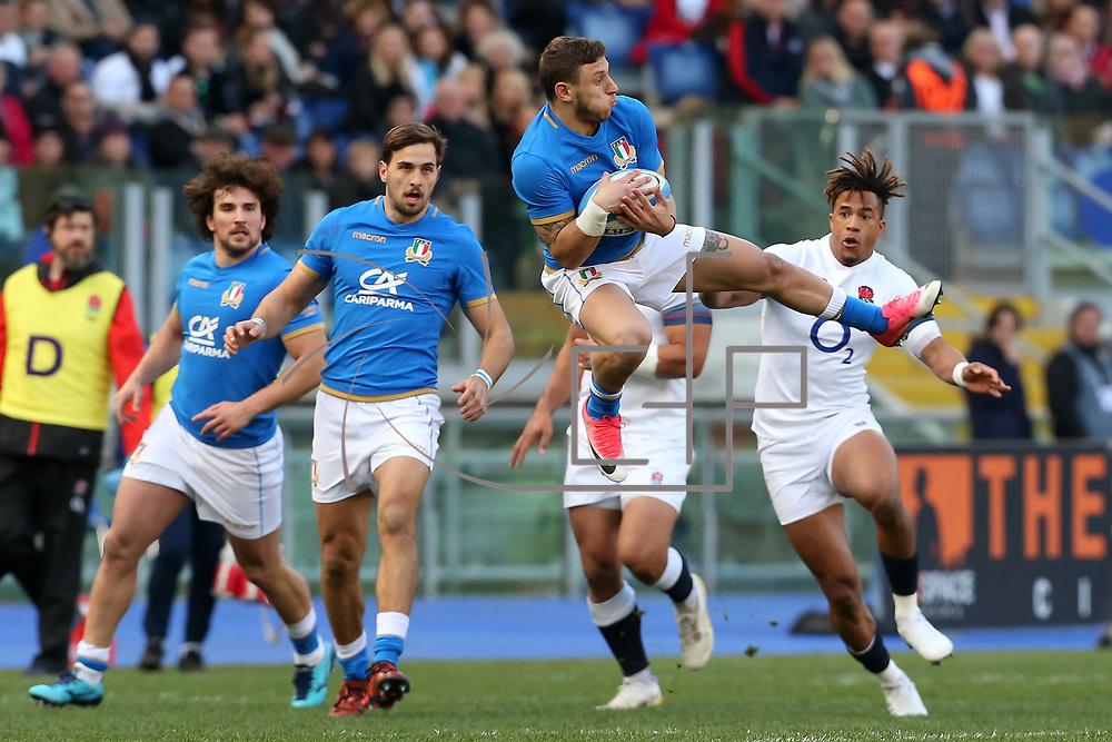 Roma 04/02/2018 Stadio Olimpico<br /> Natwest 6 nations Italia vs Inghilterra<br /> Matteo Minozzi