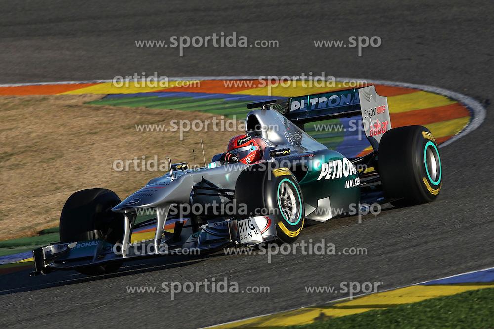 03.02.2011, Street Circuit, Jerez, ESP, Formel 1 Test 1 Valencia 2011,  im Bild  Michael Schumacher (GER), Mercedes GP . EXPA Pictures © 2011, PhotoCredit: EXPA/ nph/   poleposition.at  only aut