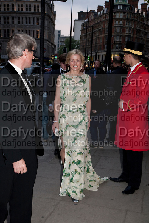 Timothy Taylor and Lady Helen Taylor arriving at the mandarin Oriental Gala pre-royal  wedding dinner held at the Mandarin Oriental Hyde Park. LONDON.  on April 28-DO NOT ARCHIVE-© Copyright Photograph by Dafydd Jones. 248 Clapham Rd. London SW9 0PZ. Tel 0207 820 0771. www.dafjones.com.