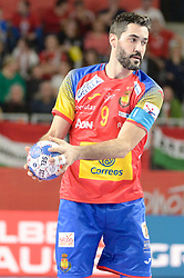 ENTRERRIOS Raul of Spain during handball match between National teams of Spain and Czech Republic on Day 2 in Preliminary Round of Men's EHF EURO 2018, on Januar 13, 2018 in Skolsko Sportska Dvorana, Varazdin, Croatia. Photo by Mario Horvat / Sportida