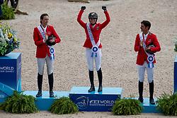 Blum Simone, GER, Fuchs Martin, SUI, Guerdat Steve, SUI<br /> World Equestrian Games - Tryon 2018<br /> © Hippo Foto - Dirk Caremans<br /> 23/09/2018
