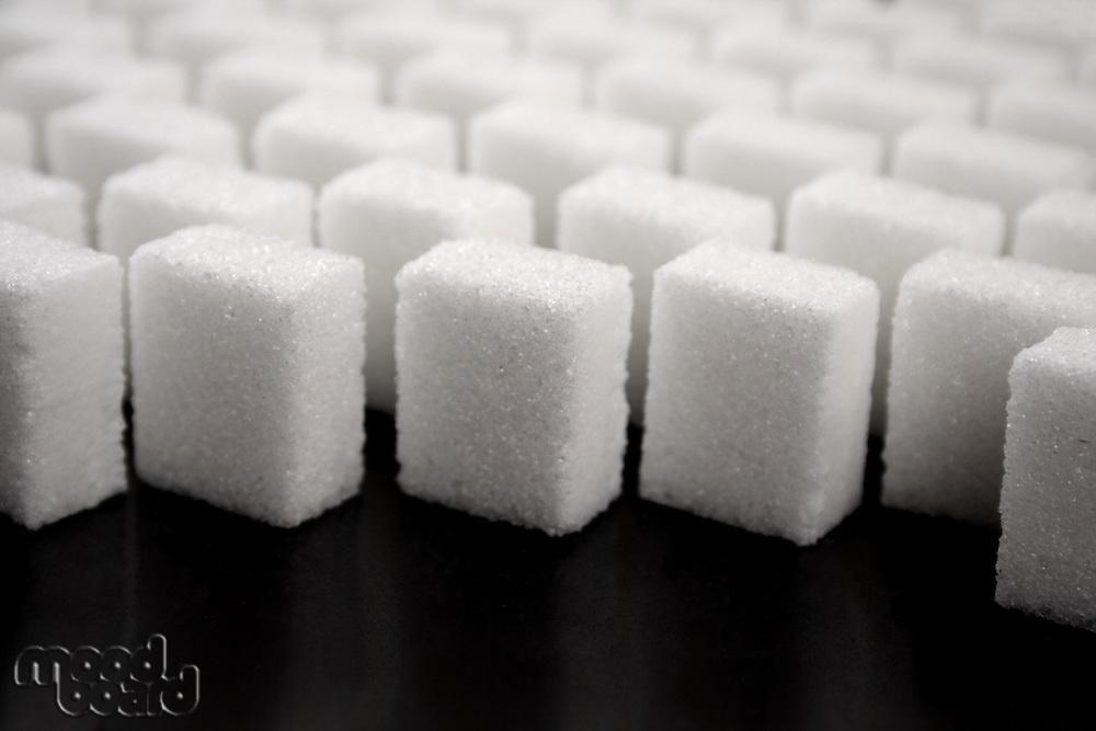 Lump sugar - studio shot