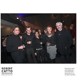 Nic McGowan;Rhian Sheehan;Raashi Malik;David Downes at the Film Wellington 10th Anniversary Celebration at the Front Room, Wellington, New Zealand.<br />