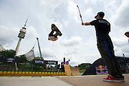 Pierre Luc Gagnon during Skate Vert Practice at the 2013 X Games Munich in Munich, Germany. ©Brett Wilhelm/ESPN