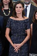 071619 Queen Letizia attends audiences at Zarzuela Palace