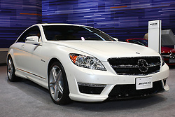 08 February 2012: 2012 MERCEDES-BENZ CL-CLASS: For 2012, Mercedes-Benz's premium two-door coupe line, the CL coupe, is offered with a choice of V8 or V12 power, plus high-performance AMG packages of each. The biturbo-powered direct-injection CL550 4MATIC coupe (429 hp, 516 lb. ft. of torque) has standard all-wheel drive, and the CL63 AMG model comes with a high-performance direct-injection 5.5-liter AMG version of the biturbo V8 (536 hp, 590 lb. ft.), complete with ECO Stop/Start and AMG's award-winning MCT transmission. The V12 powered CL600 (510 hp, 612 lb. ft.) and the CL65 AMG (621 hp, 738 lb. ft.) round-out the CL coupe line. All CL four-passenger coupes are available with innovative technology, including the new Spotlight Function that is part of its infra-red based Night View Assist PLUS feature; Splitview dual-content viewscreen, ATTENTION ASSIST, which can alert drivers to the first signs of drowsiness, optional Active Lane Keeping Assist that recognizes lane markings and the revolutionary feature - PRE-SAFE brake, which automatically applies braking in certain types of emergencies. Chicago Auto Show, Chicago Automobile Trade Association (CATA), McCormick Place, Chicago Illinois