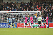 Wycombe Wanderers Midfielder, Scott Kashket (24) scores a goal to make it 1-0 during the EFL Sky Bet League 2 match between Wycombe Wanderers and Hartlepool United at Adams Park, High Wycombe, England on 26 November 2016. Photo by Adam Rivers.