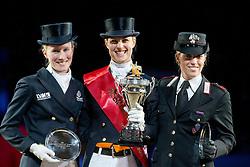 Podium Reem Acra FEI World Cup ™ Dressage Final 2012<br /> 1. Adelinde Cornelissen<br /> 2. Helen Langehanenberg<br /> 3. Valentina Truppa<br /> 'S Hertogenbosch 2012<br /> © Dirk Caremans