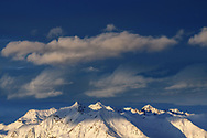 Lenzerhorn and Aroser Rothorn, the two highest peaks of the Plessur Alps, Chur, Grisons, Switzerland