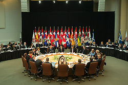 Canadian Prime Minister Justin Trudeau, United States Vice-President Joe Biden, Premiers and Indigenous leaders gather for a meeting at the First Ministers and National Indigenous Leaders meeting in Ottawa, Friday December 9, 2016. Photo by Adrian Wyld/ The Canadian Press/ABACAPRESS.COM