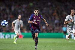 October 24, 2018 - Barcelona, Spain - Barcelona, Spain, October 24, 2018: Luis Suarez of FC Barcelona in action during the UEFA Champions League, Group B football match between FC Barcelona and FC Internazionale on October 24, 2018 at Camp Nou stadium in Barcelona, Spain (Credit Image: © Manuel Blondeau via ZUMA Wire)