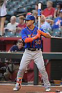 PHOENIX, AZ - MAY 16:  Michael Conforto #30 of the New York Mets warms up in the on deck circle during the MLB game against the Arizona Diamondbacks at Chase Field on May 16, 2017 in Phoenix, Arizona. The Arizona Diamondbacks won 5-4.  (Photo by Jennifer Stewart/Getty Images)
