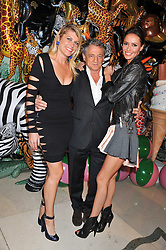Left to right, MEREDITH OSTROM, CARLOS ALMADA and SASHA VOLKOVA at the Mulberry Spring/Summer 2012 - London Fashion Week afterparty held at Claridge's, Brook Street, London on 18th September 2011.