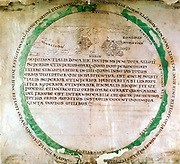 Anglo-Saxon map of 900s showing a flat earth and the ocean that was thought to surround it. British Museum