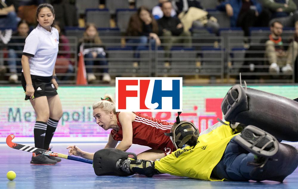 BERLIN - Indoor Hockey World Cup<br /> Women: Kazakhstan - Belarus<br /> foto: BAHUSHEVICH Sviatlana.<br /> WORLDSPORTPICS COPYRIGHT FRANK UIJLENBROEK