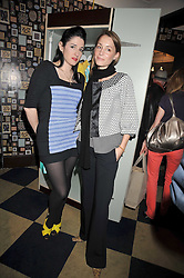 Left to right, AMY MOLYNEAUX and GEORGINA RYLANCE at a party to celebrate the opening of the PPQ Jackdaw Store at 6 Burlington Arcade, London on 8th April 2009.