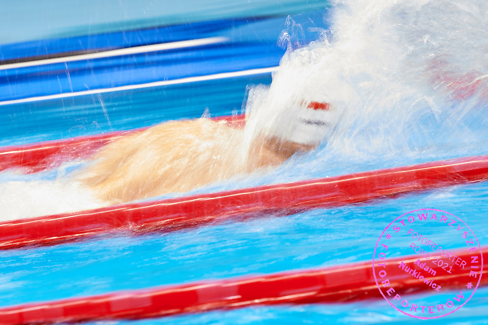 Rio de Janeiro, Brazil - 2016 September 12: Patryk Biskup from Poland competes in Men's 100m Freestyle - S9 at Olympic Aquatics Stadium during 2016 Summer Paralympic Games on September 12, 2016 in Rio de Janeiro, Brazil.<br /> <br /> Adam Nurkiewicz declares that he has no rights to the image of people at the photographs of his authorship.<br /> <br /> Picture also available in RAW (NEF) or TIFF format on special request.<br /> <br /> Any editorial, commercial or promotional use requires written permission from the author of image.<br /> <br /> Mandatory credit:<br /> Photo by &copy; Adam Nurkiewicz / Mediasport
