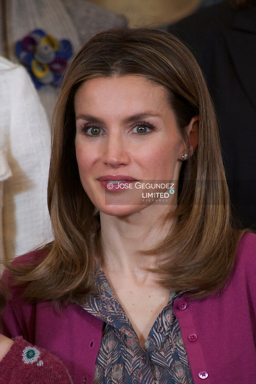 Princess Letizia attends an Audience to a representation of the National Network of Women with Disabilities (REDM) at Zarzuela Palace in Madrid