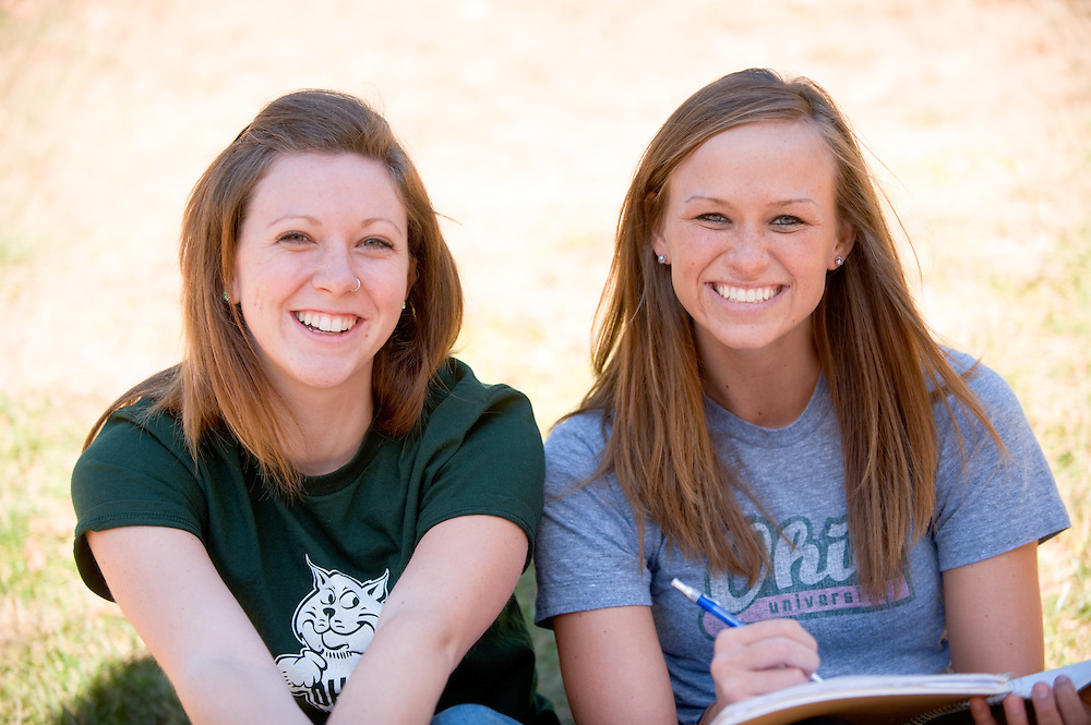 Campus shots: ..  Hannah Tangi  and Amy Swearingen(grey)