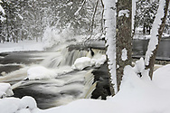 Upper Bond Falls after a new snowfall.