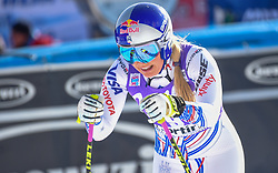 19.01.2019, Olympia delle Tofane, Cortina d Ampezzo, ITA, FIS Weltcup Ski Alpin, Abfahrt, Damen, im Bild Lindsey Vonn (USA) // Lindsey Vonn of the USA reacts after her run in the ladie's Downhill of FIS ski alpine world cup at the Olympia delle Tofane in Cortina d Ampezzo, Italy on 2019/01/19. EXPA Pictures © 2019, PhotoCredit: EXPA/ Erich Spiess