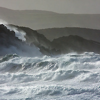 Pounding Waves against the Cliffs of St. Finian's Bay, County Kerry, Ireland / bs056