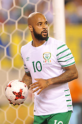June 1, 2017 - East Rutherford, New Jersey, U.S - Republic of Ireland forward DAVID MCGOLDRICK (10) is seen during an international friendly match at Met Life Stadium in East Rutherford New Jersey Mexico defeats Republic of Ireland 3 to 1 (Credit Image: © Brooks Von Arx via ZUMA Wire)