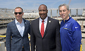 Apr 15, 2019-NFL-LA Stadium Canopy Shell Topping Out Celebration