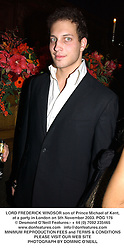 LORD FREDERICK WINDSOR son of Prince Michael of Kent, at a party in London on 5th November 2003.POG 176