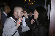 Karin Silverstein, Drinks party to launch a new Thomas Pink shirt called The Mogul which has a pocket which houses one's cigar. Hostyed by the Spectator and Thomas Pink. Floridita. Wardour St. London. 1 November 2006. -DO NOT ARCHIVE-© Copyright Photograph by Dafydd Jones 66 Stockwell Park Rd. London SW9 0DA Tel 020 7733 0108 www.dafjones.com