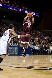 Virginia Tech guard Hank Thorns (10) shoots over Virginia forward Adrian Joseph (30).  The Virginia Cavaliers men's basketball team faced the Virginia Tech Hokies at the John Paul Jones Arena in Charlottesville, VA on January 16, 2008.